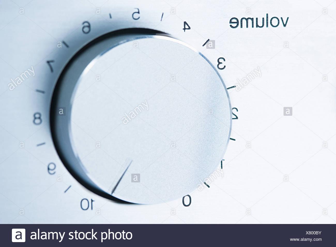 Manopola del volume Immagini Stock