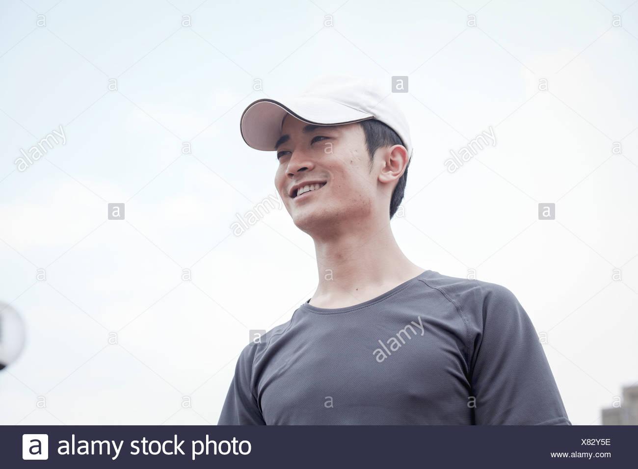 Close Up Man Wearing Baseball Immagini   Close Up Man Wearing ... 87fa5877e9a1