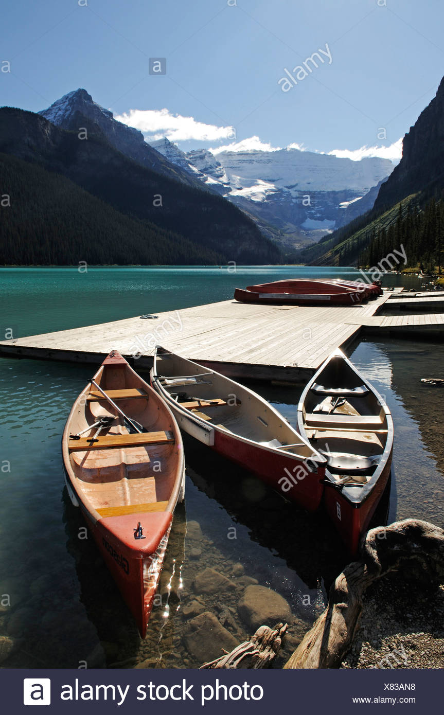 Il Lago Louise, il Parco Nazionale di Banff, Alberta, Canada Immagini Stock