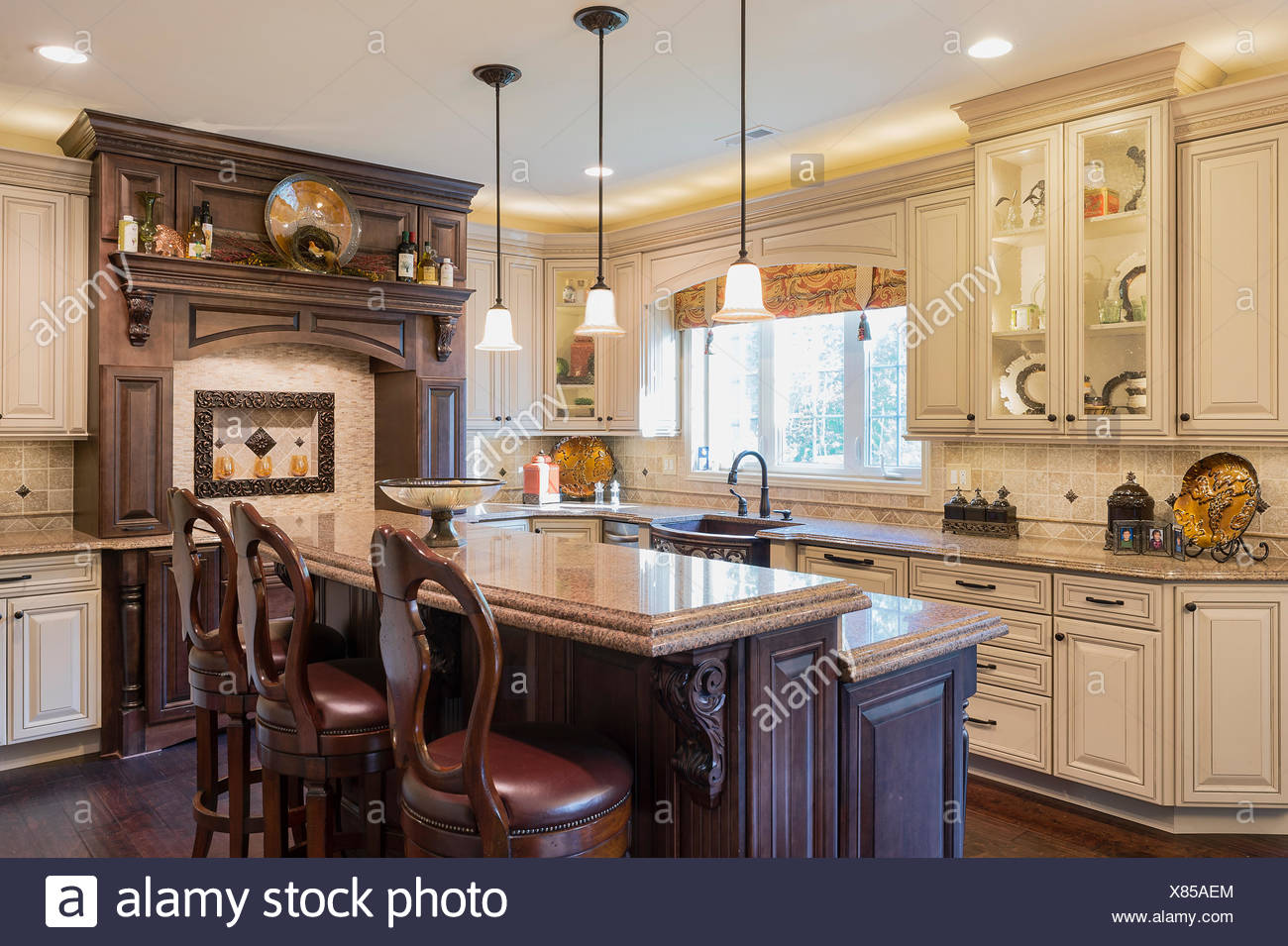 Cucine Di Lusso Design : Cucina di lusso interior design foto immagine stock