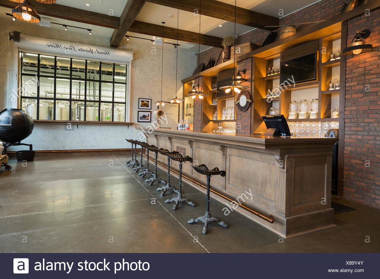 Distilleria di Vuoto bar Immagini Stock