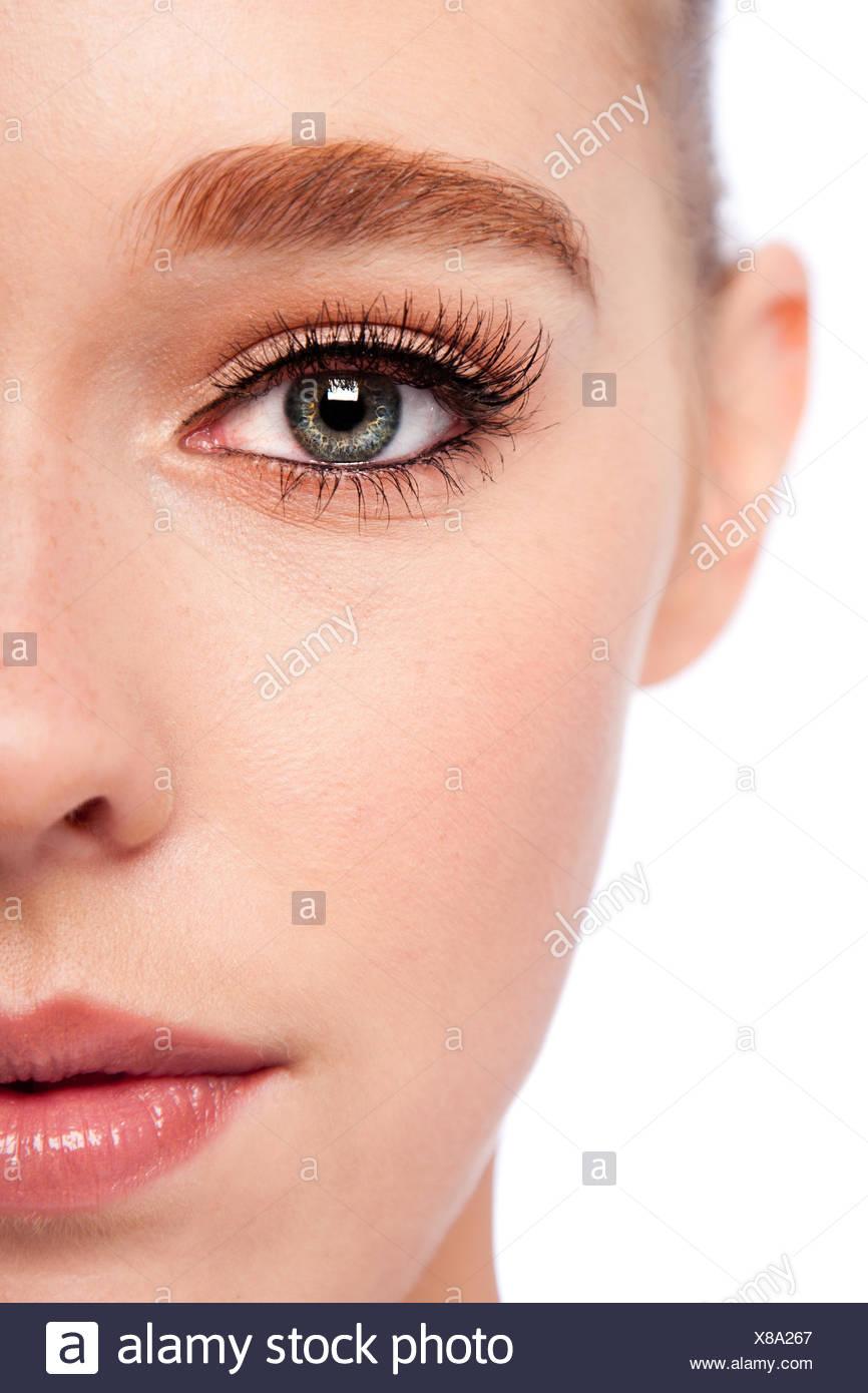 Occhio di bellezza e metà faccia Immagini Stock