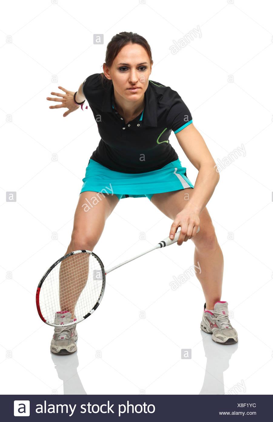 Badminton player ritratto Immagini Stock