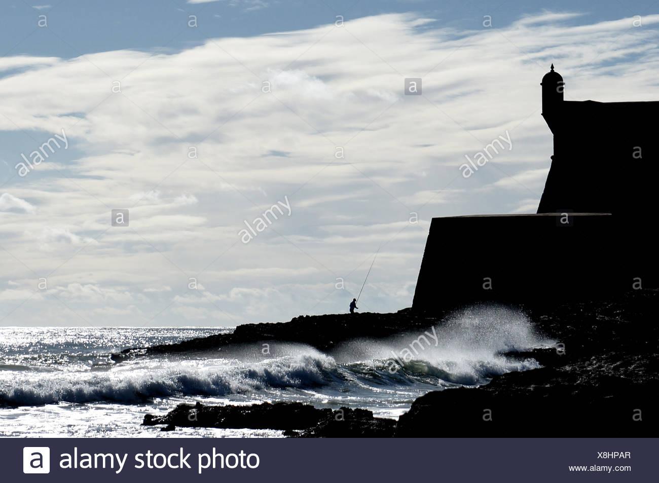 Vista panoramica del mare contro Sky Immagini Stock