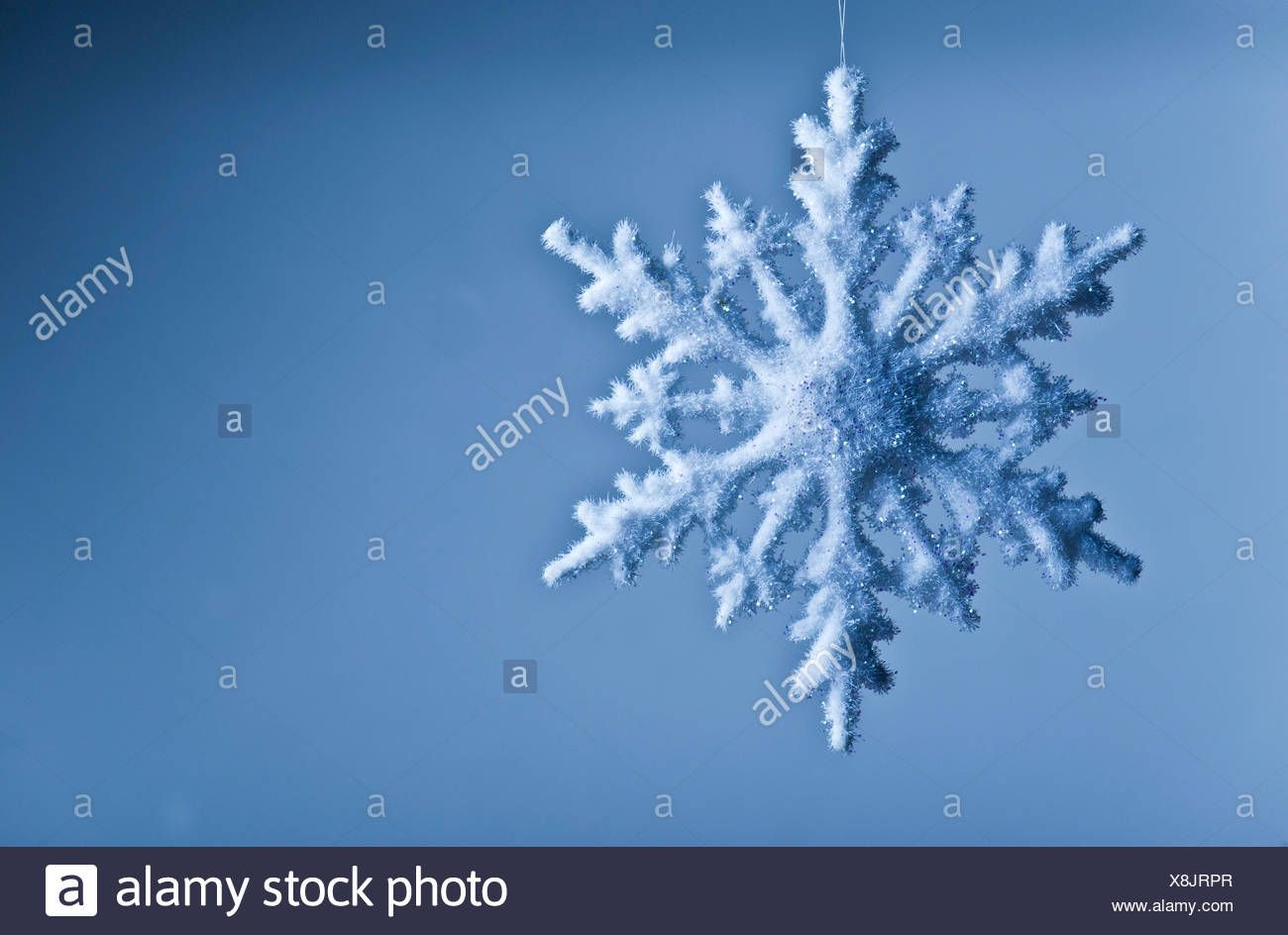 Decorazione a fiocco di neve Immagini Stock
