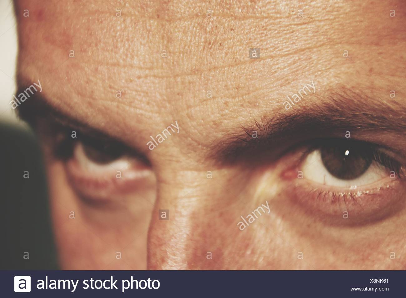Close-Up dell uomo occhi Immagini Stock