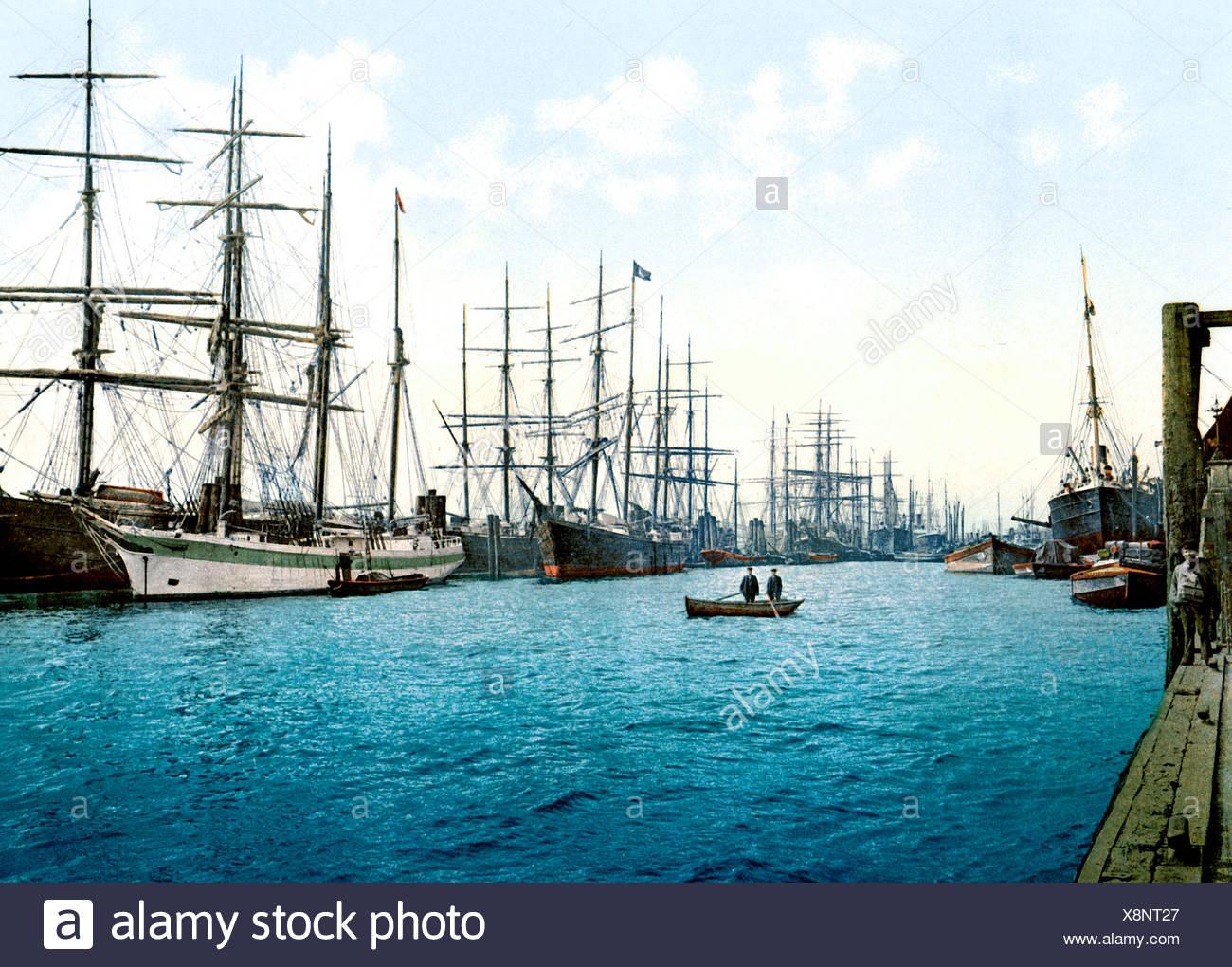 Elbe Hamburg Immagini Stock