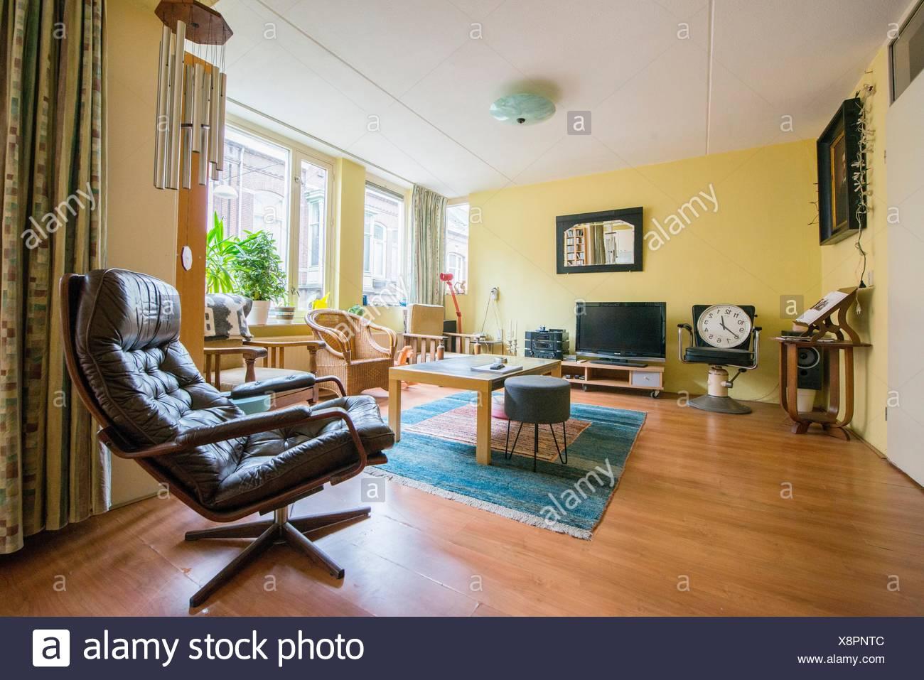 Tilburg, Paesi Bassi. Interior shot di un appartamento composto da ...