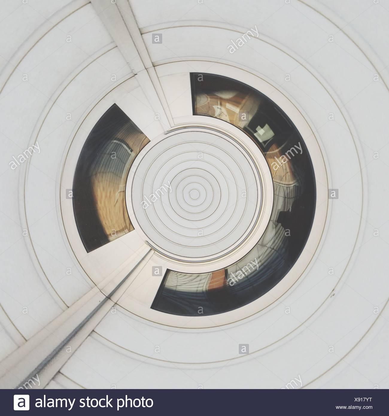 Abstract concentrici modello bianco Immagini Stock