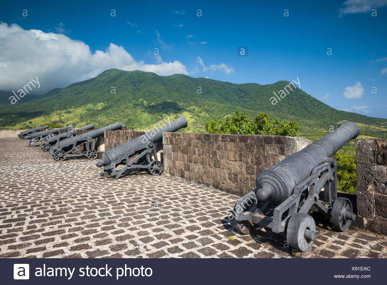 St. Kitts e Nevis, St. kitts, Brimstone Hill, Brimstone Hill Fortress Foto Stock
