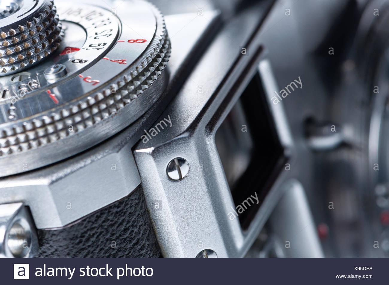 Mirino della vecchia macchina fotografica. Immagini Stock