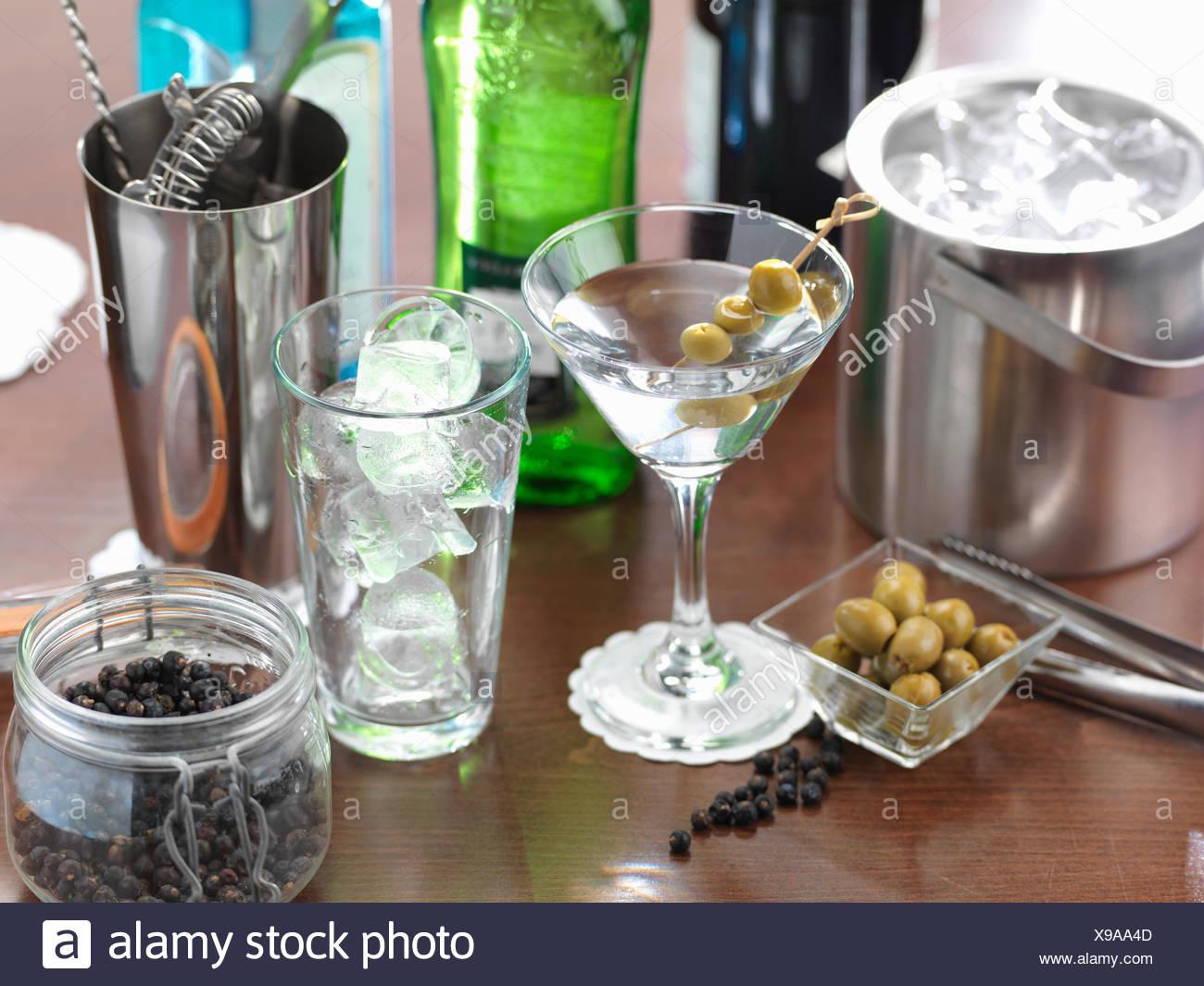 Tradizionale bevanda italiana di Martini italiana Immagini Stock