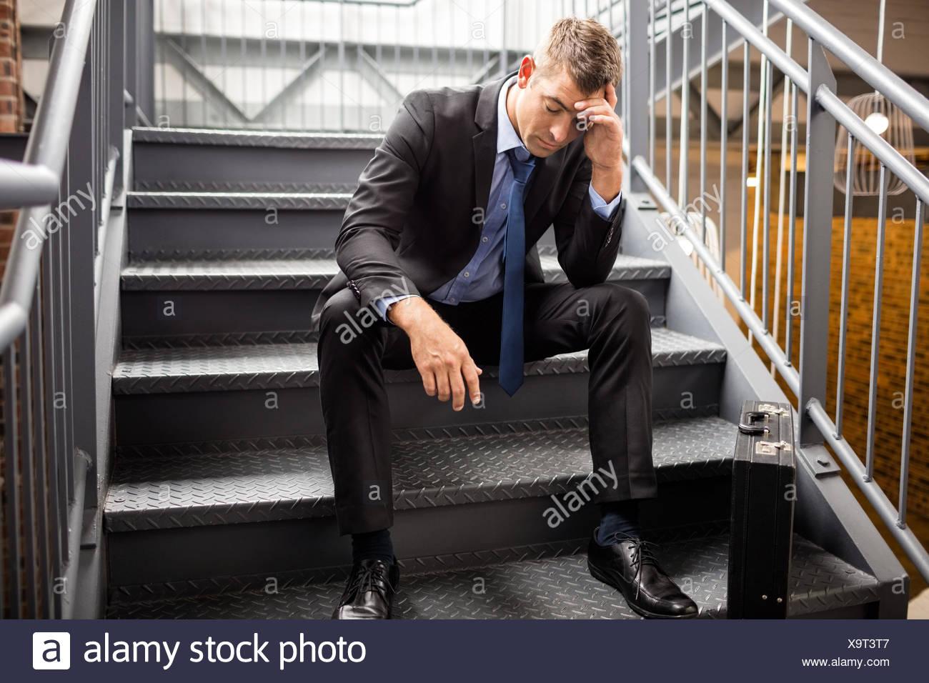 Ritratto di un imprenditore deluso Immagini Stock