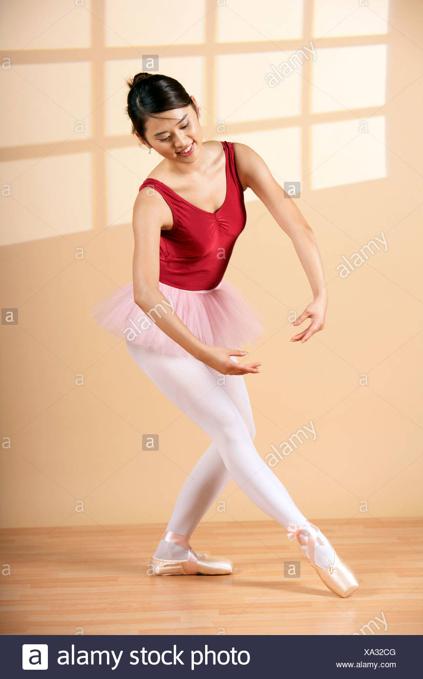 Donna Ballet Dancing Immagini Stock