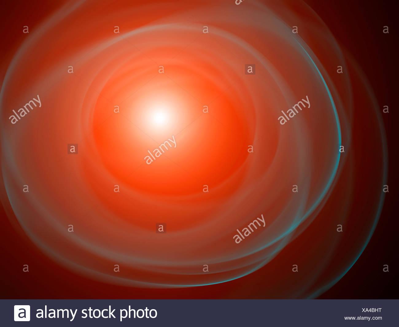 Rosso brillante forme astratte, illustrazione. Immagini Stock