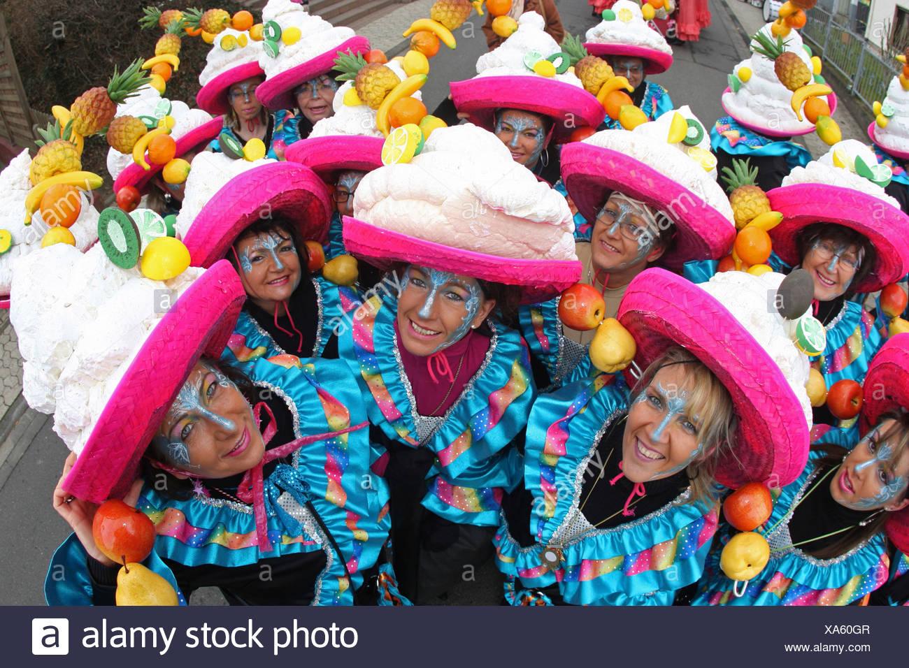 Mardi Gras Parade di Muelheim-Kaerlich, Renania-Palatinato, Germania: Immagini Stock