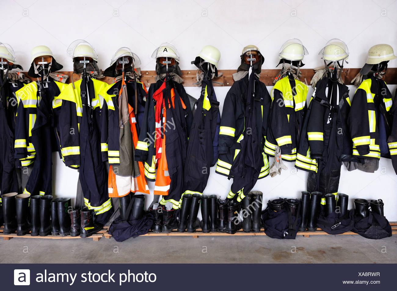 Vigili del fuoco abbigliamento protettivo Immagini Stock