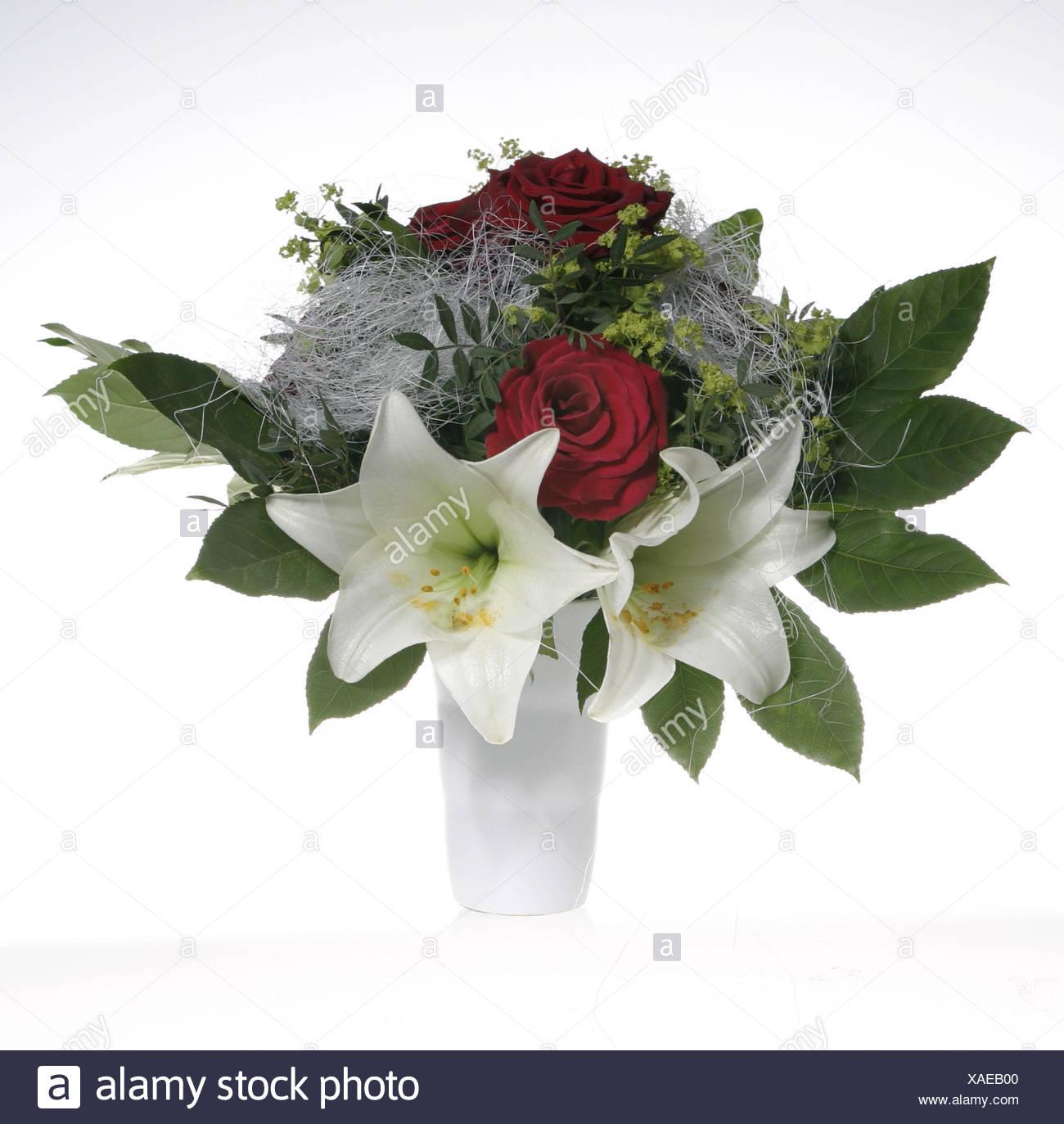 Mazzo Di Fiori Legato.Vaso Bouquet Vaso Di Fiori Mazzo Fiori Rose Gigli Blossom