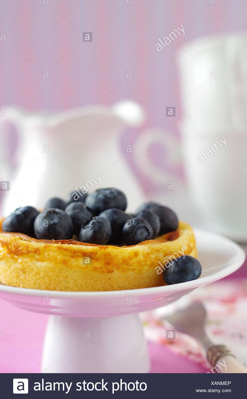 Cheesecake con mirtilli Immagini Stock