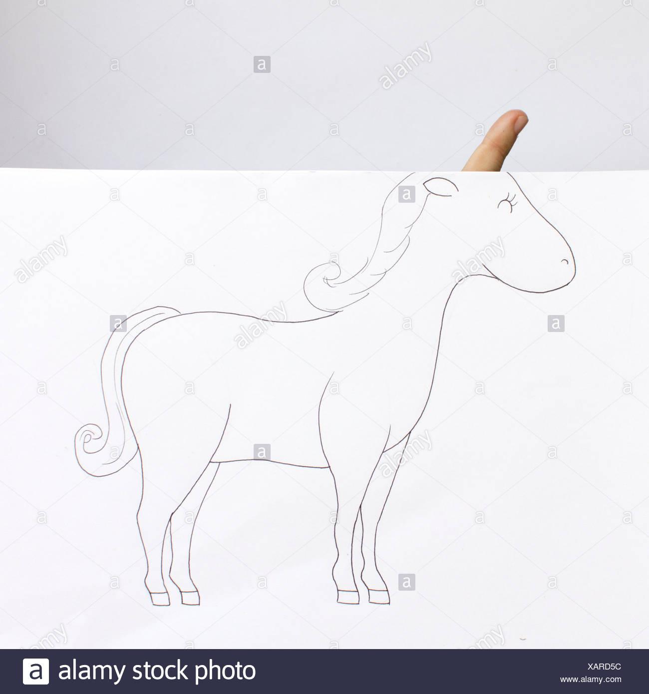 Unicorn concettuale Immagini Stock