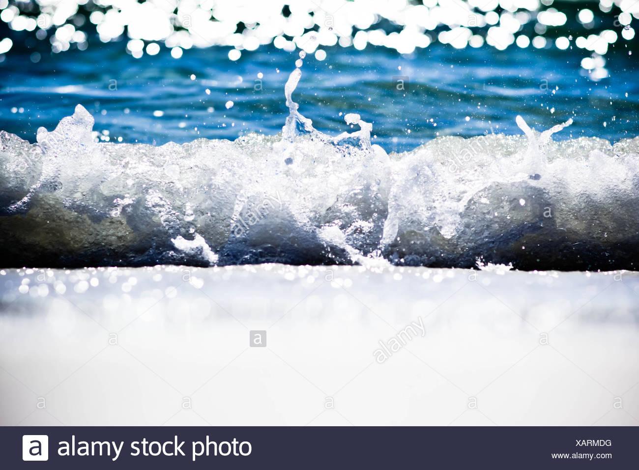 Destin, in Florida, Stati Uniti d'America Splash Immagini Stock