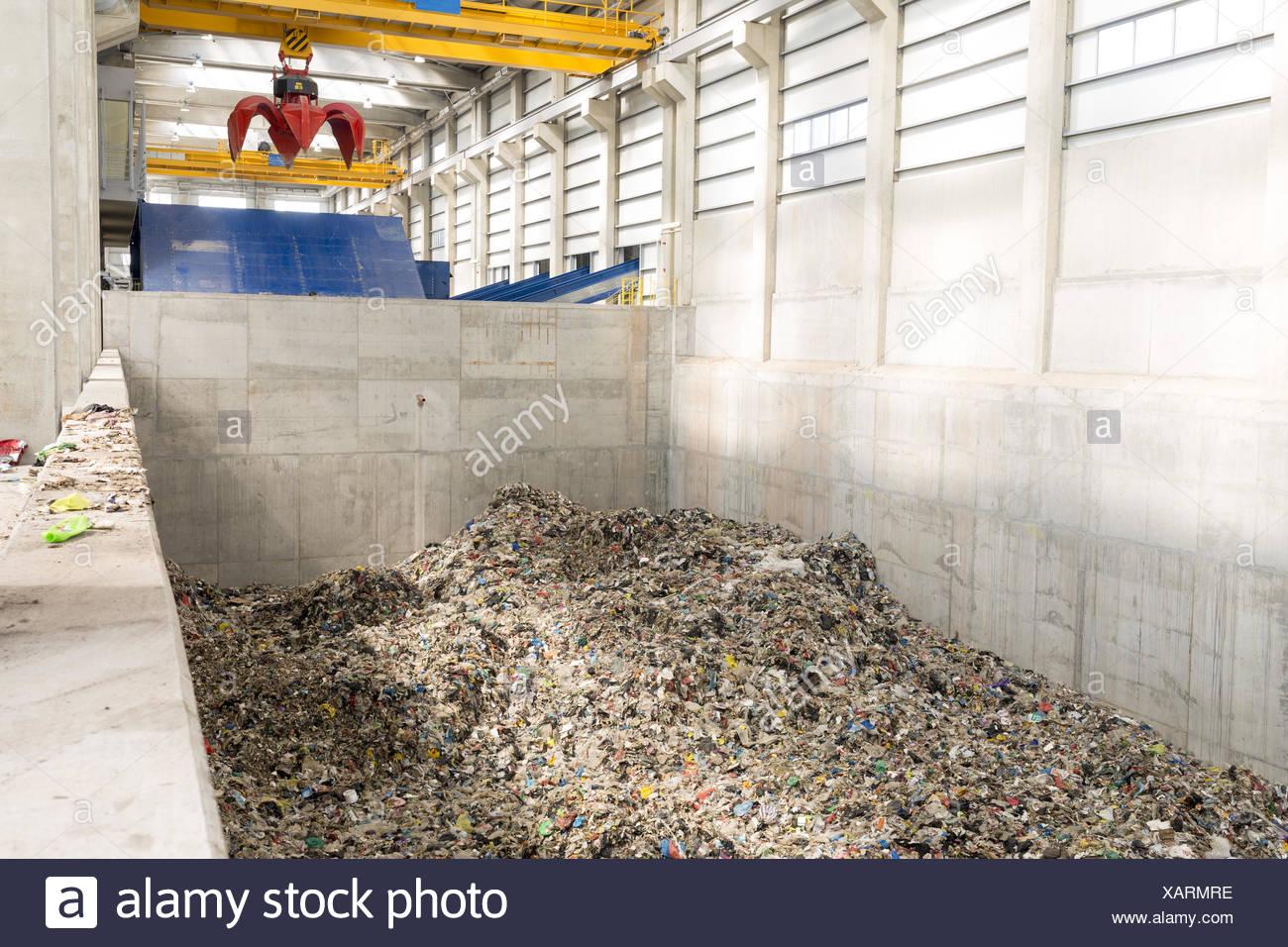 Gestione dei rifiuti facility Immagini Stock