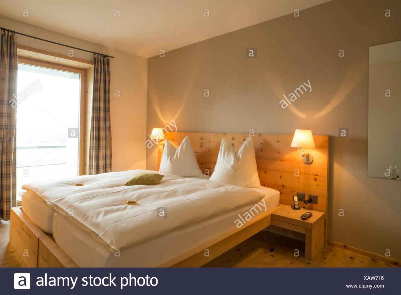 Camera in hotel a Muottas Muragl Immagini Stock