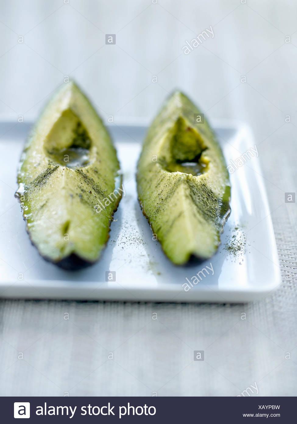 Avocado dolcificato con lui Fu Feng Xi Polvere di tè Immagini Stock