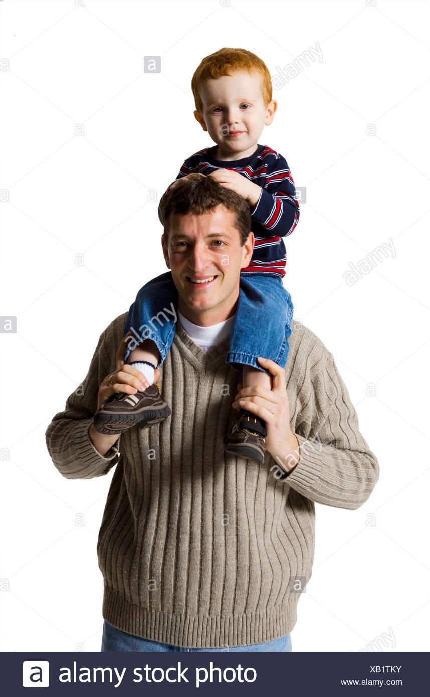 Padre con il figlio Foto Stock