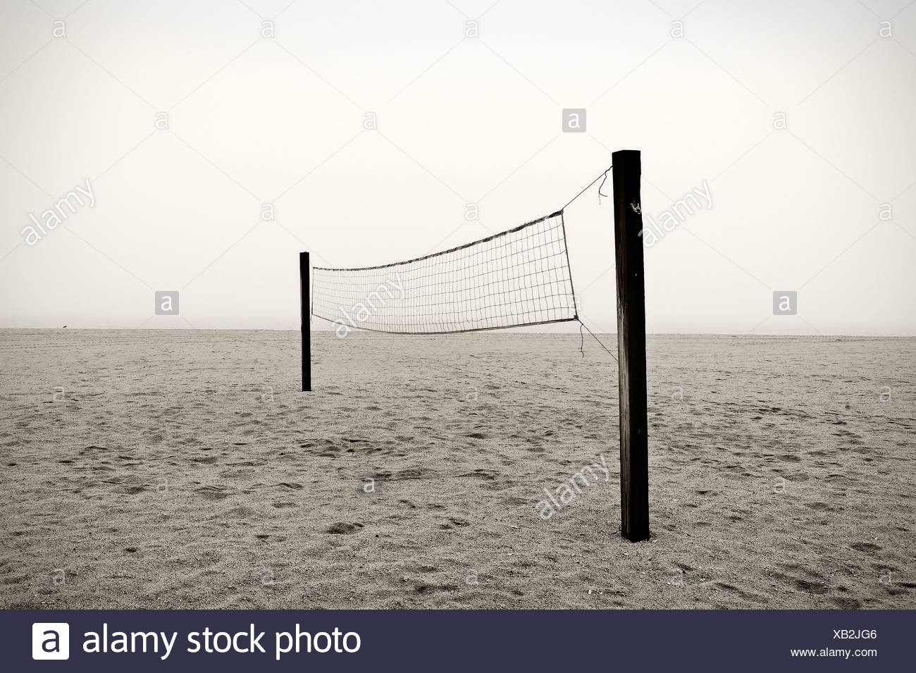Beach volley net Immagini Stock
