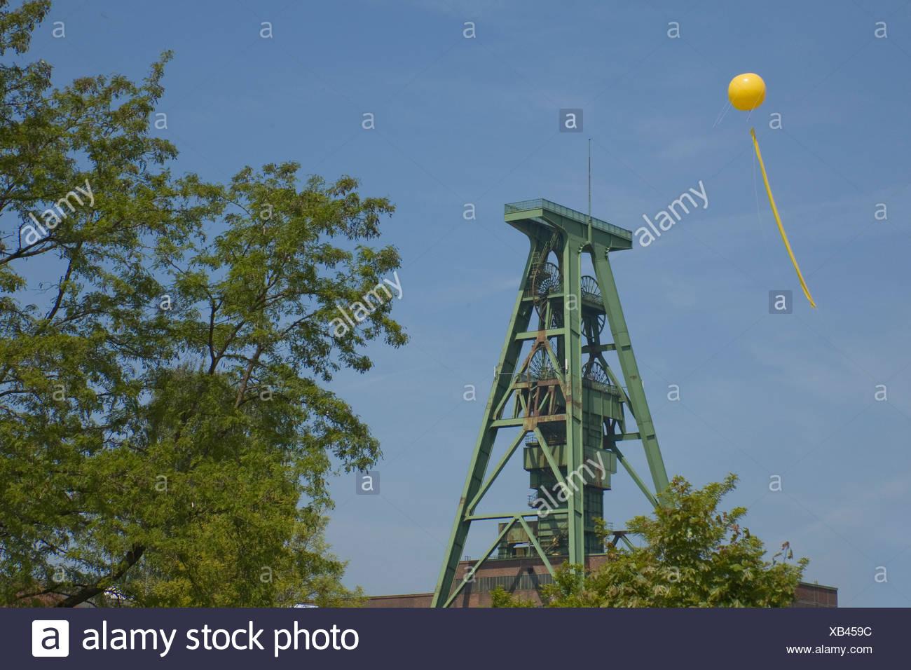 Schachtzeichen ruhr 2010 lohberg Immagini Stock