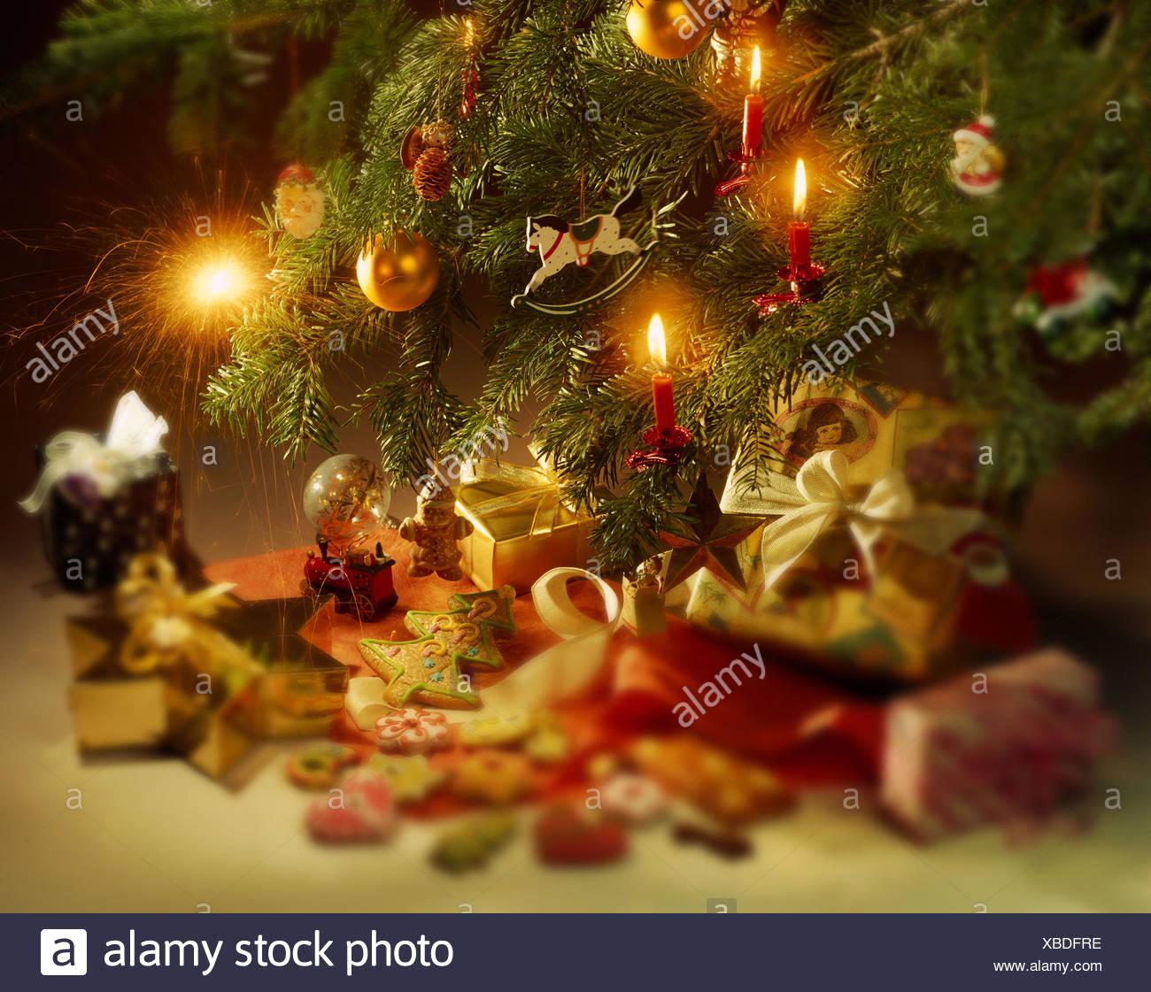 Biscotti Decorati Per Albero Di Natale.Albero Di Natale Dettaglio Presenta Biscotti Sfocatura Albero Di