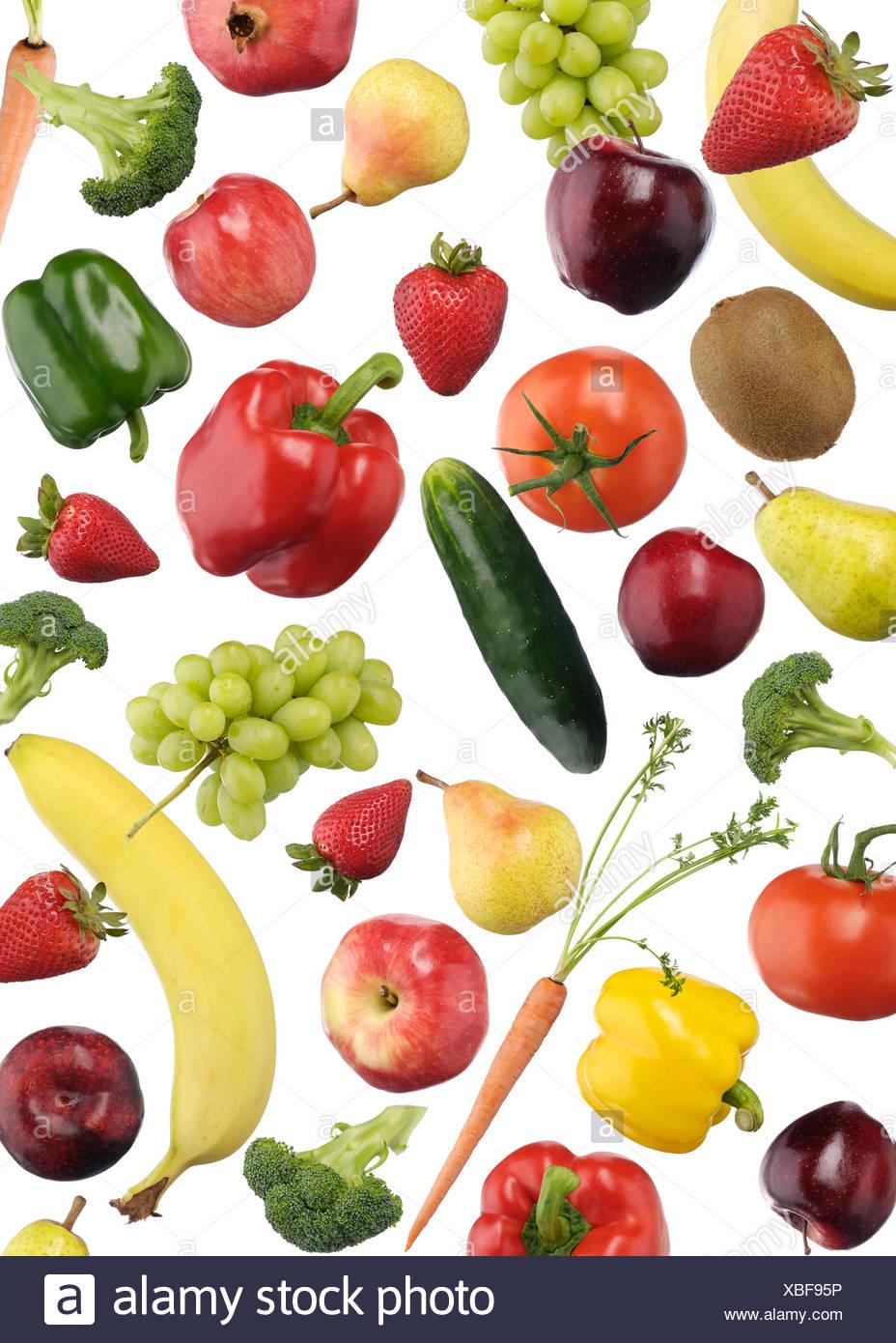 Pattern colorati di frutta e verdura Immagini Stock