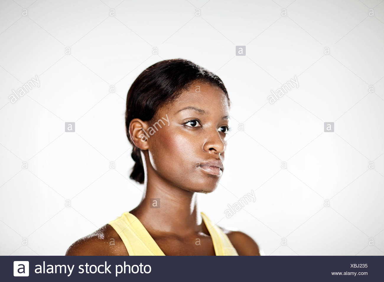Atleta femminile, ritratto Immagini Stock