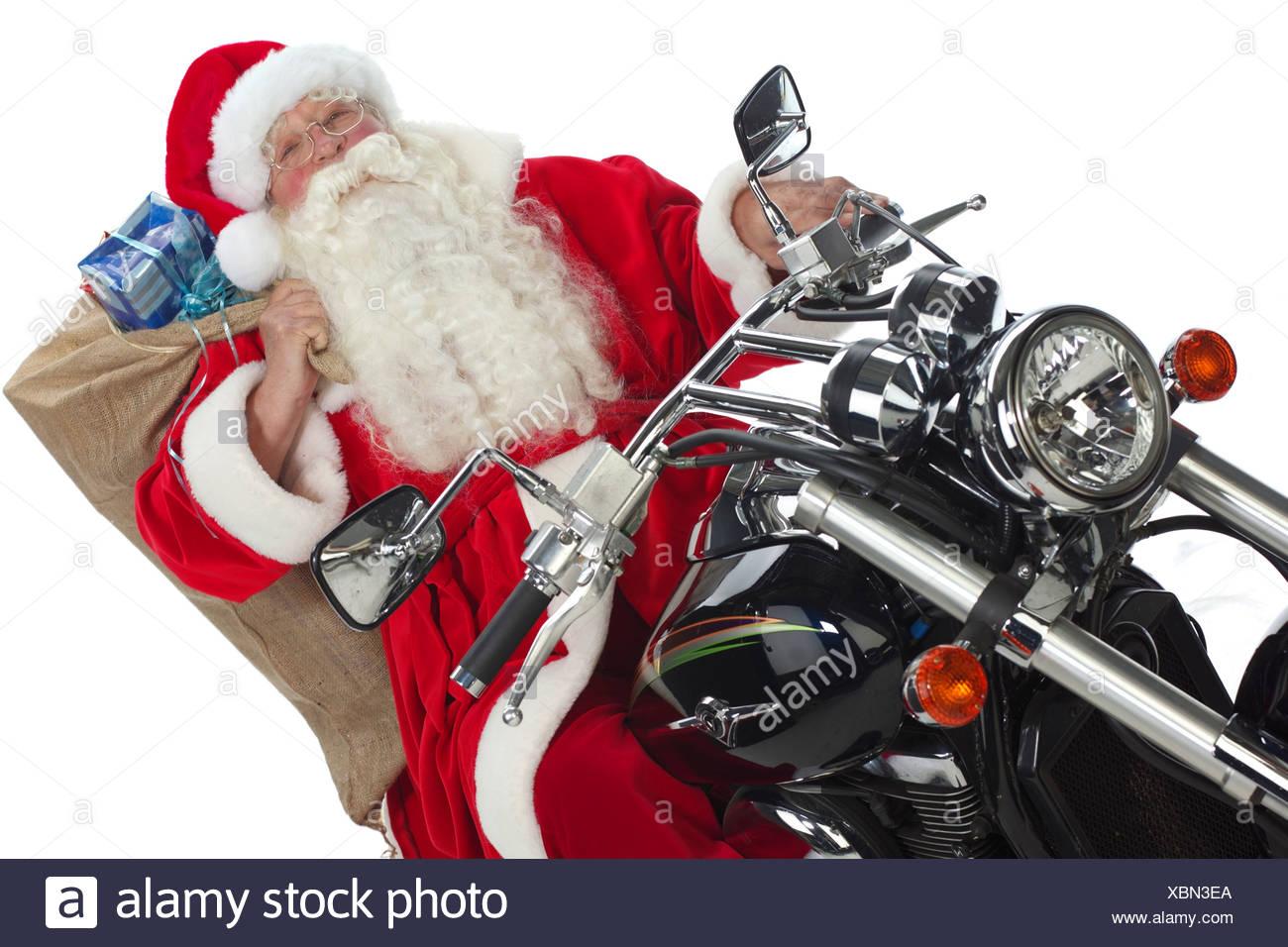 Immagini Babbo Natale In Moto.Babbo Natale In Moto Foto Immagine Stock 282590850 Alamy