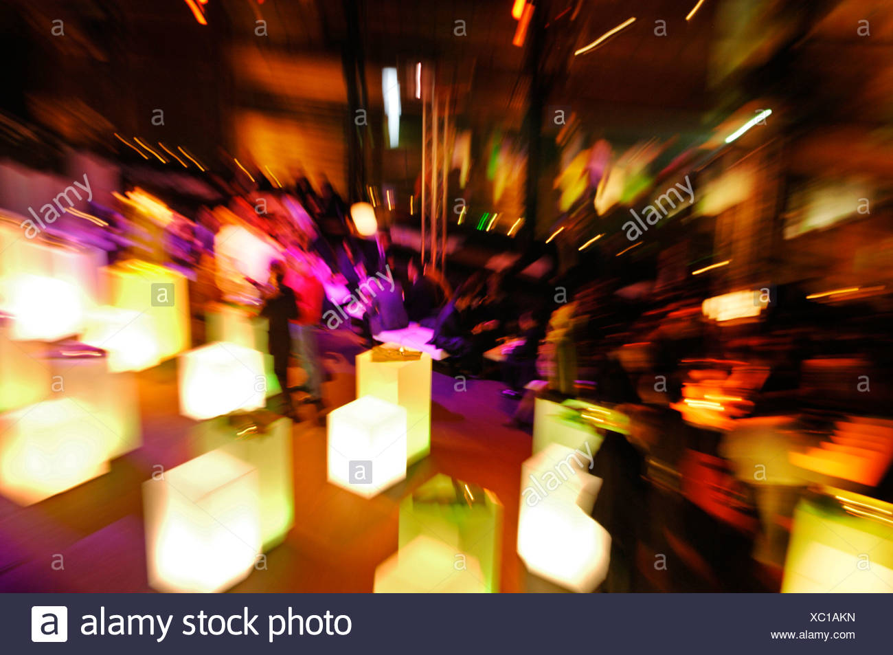 L'evento serale, persone, effetto di zoom Immagini Stock
