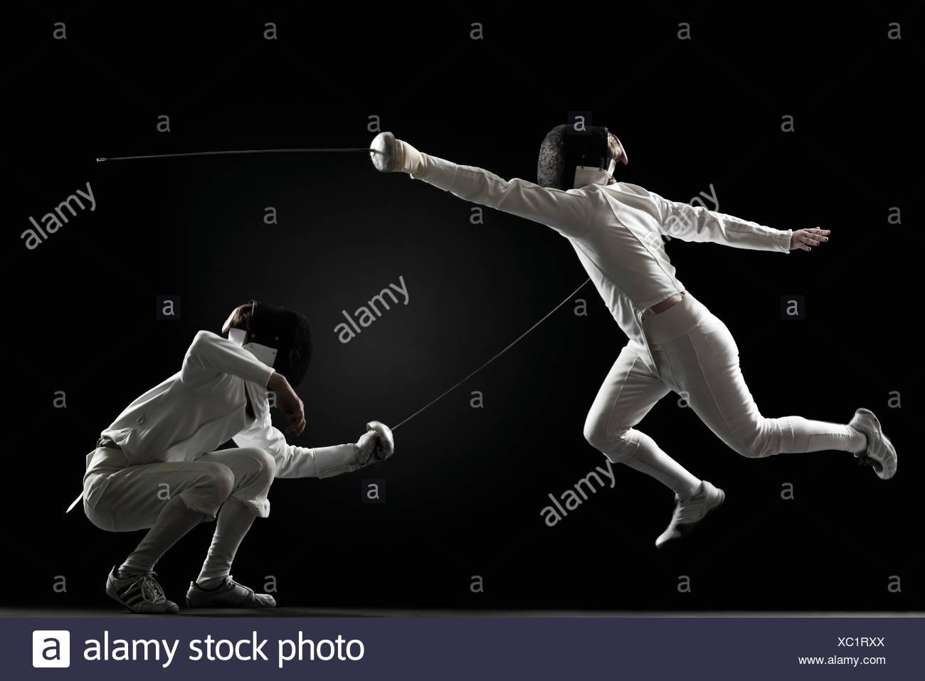 Schermidori scherma Immagini Stock