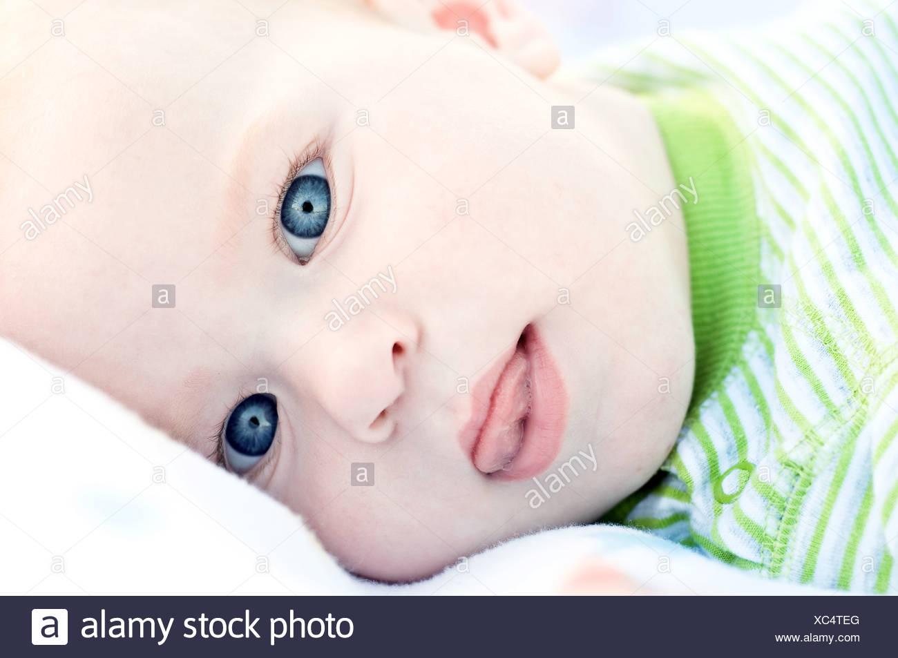 Portret di simpatici baby Immagini Stock
