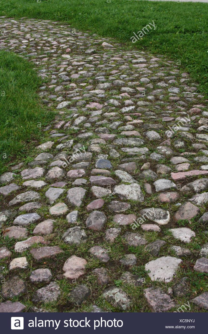 Pavimentazione Giardino In Pietra strada sterrata di intonaco a ciottoli pavimentazione di