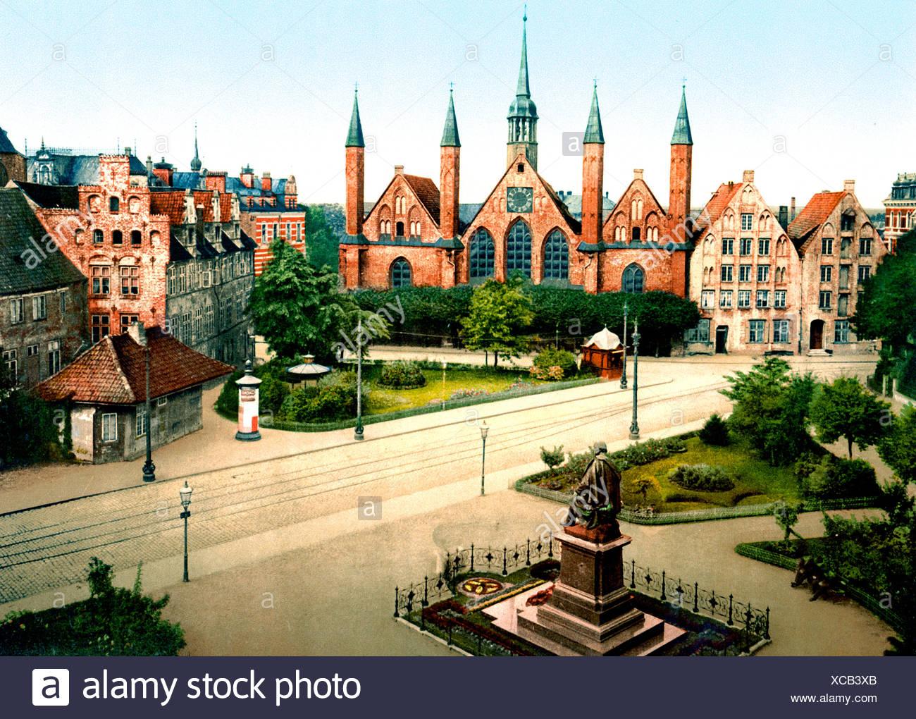 Das Krankenhaus Lübeck Immagini Stock