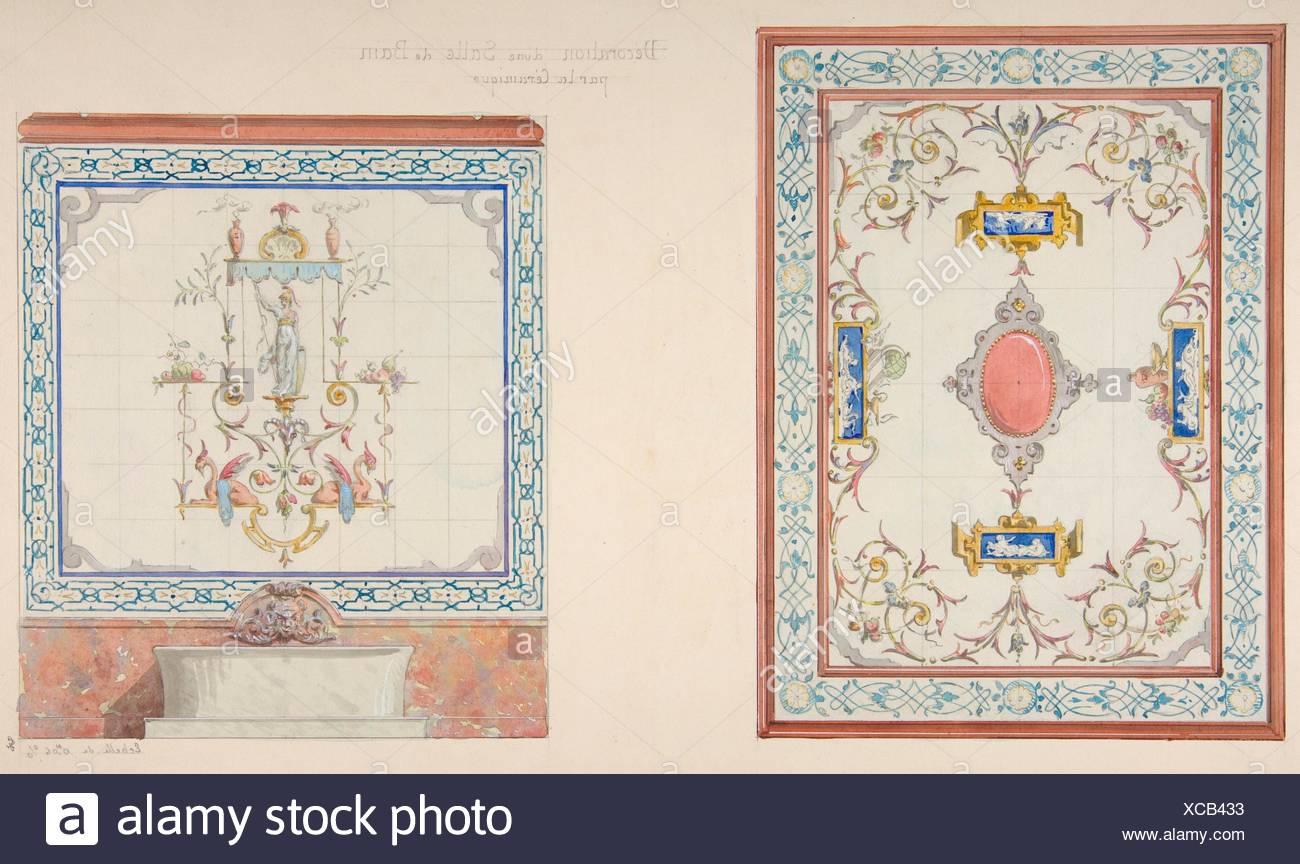 Design per la decorazione di piastrelle ceramiche di una stanza da