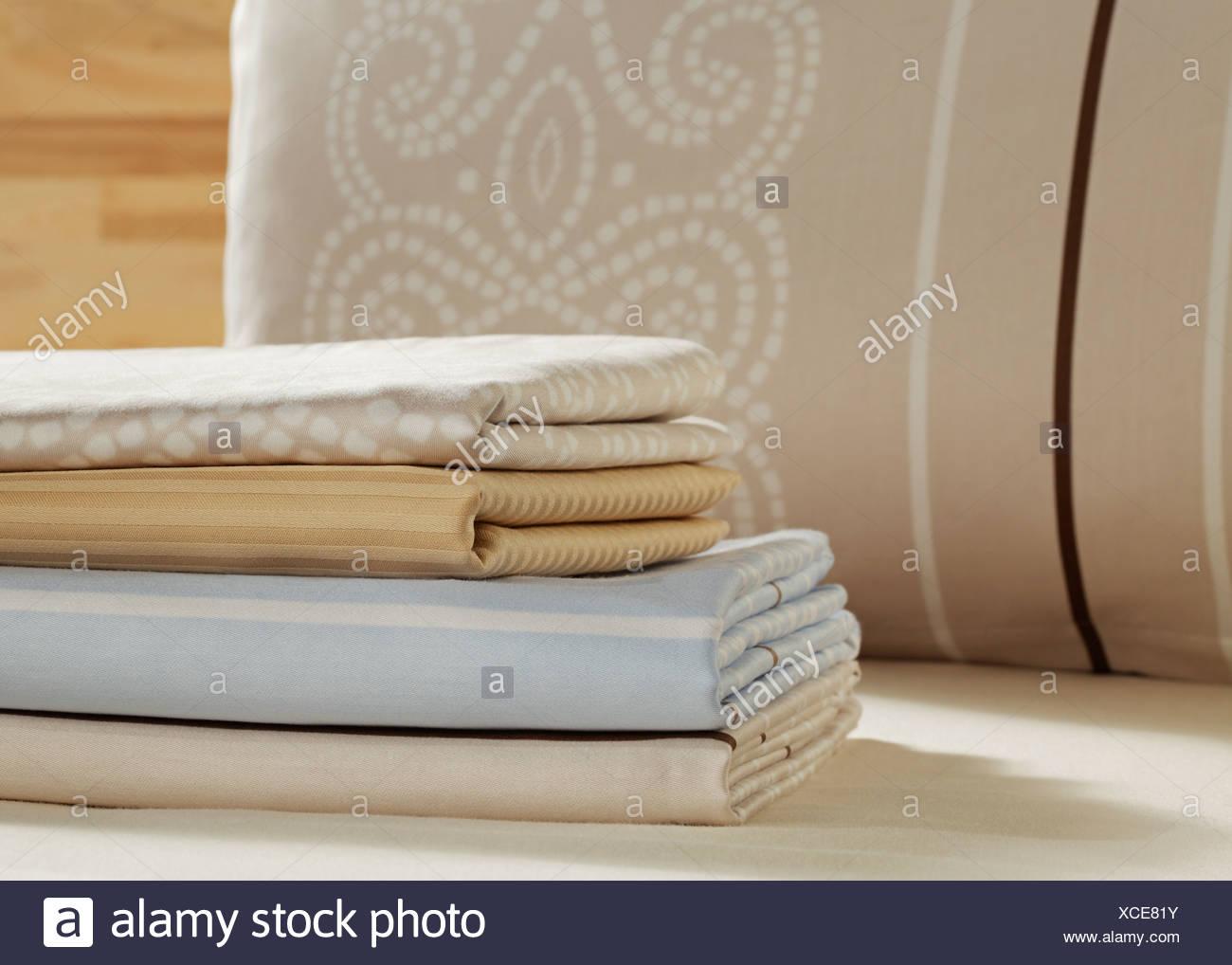 Varietà di raso lenzuola Immagini Stock
