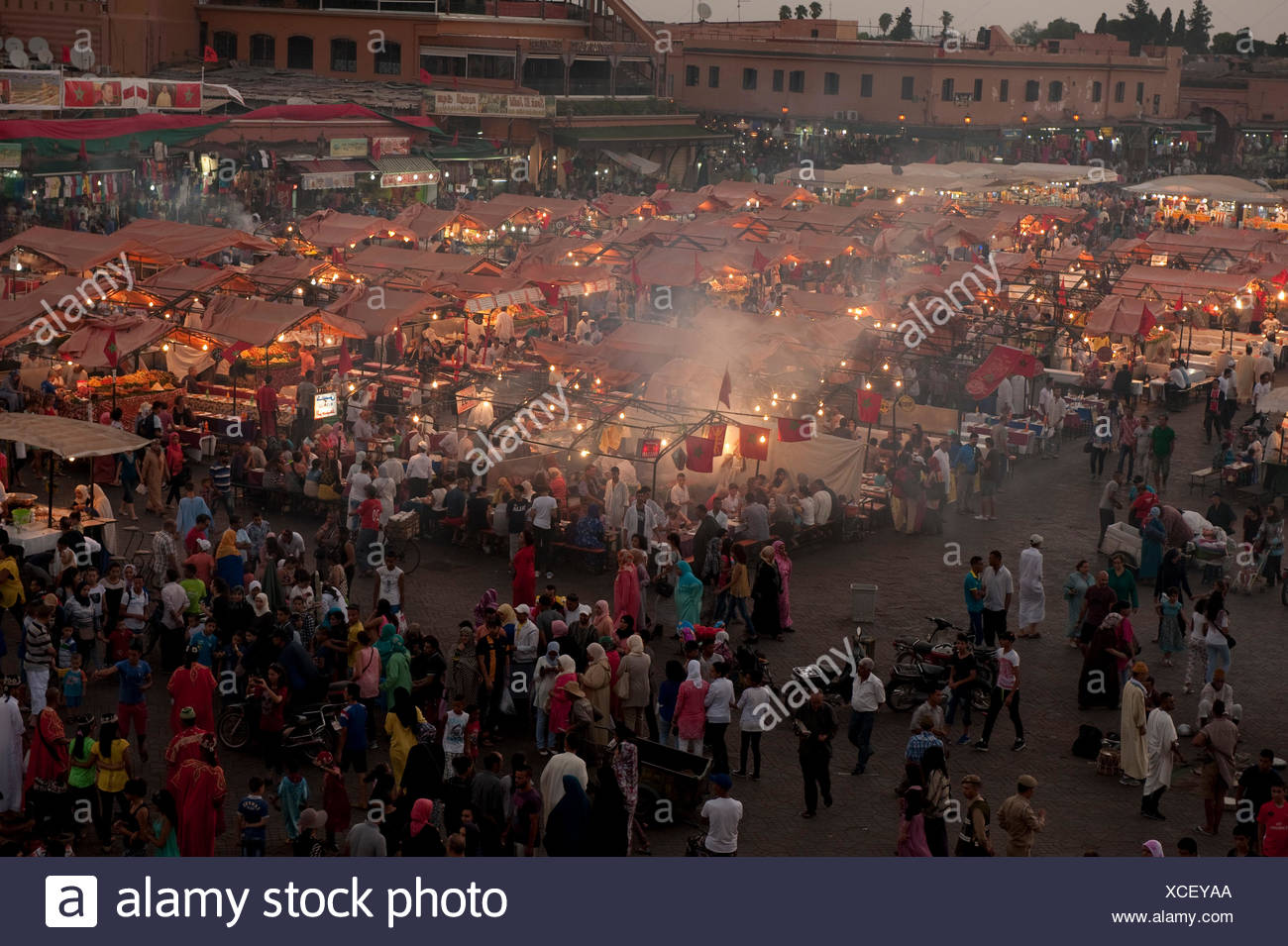 Djemaa el Fna a Marrakech, Marocco Immagini Stock