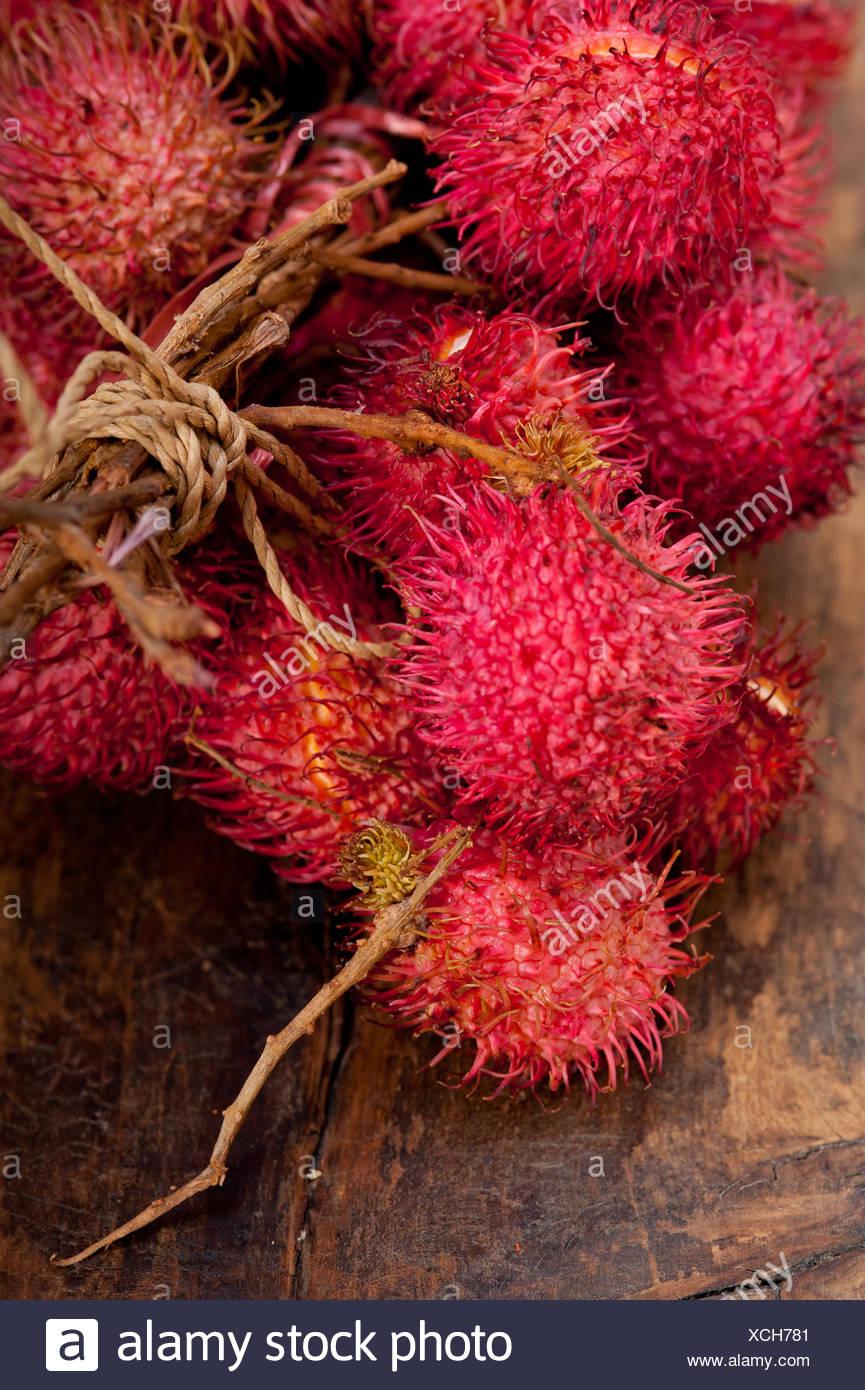 Freschi frutti di rambutan Immagini Stock