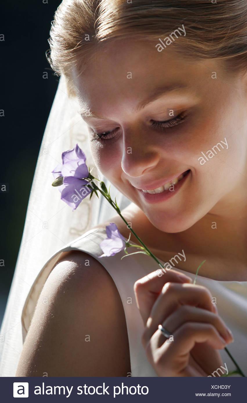 Sposa timida Immagini Stock