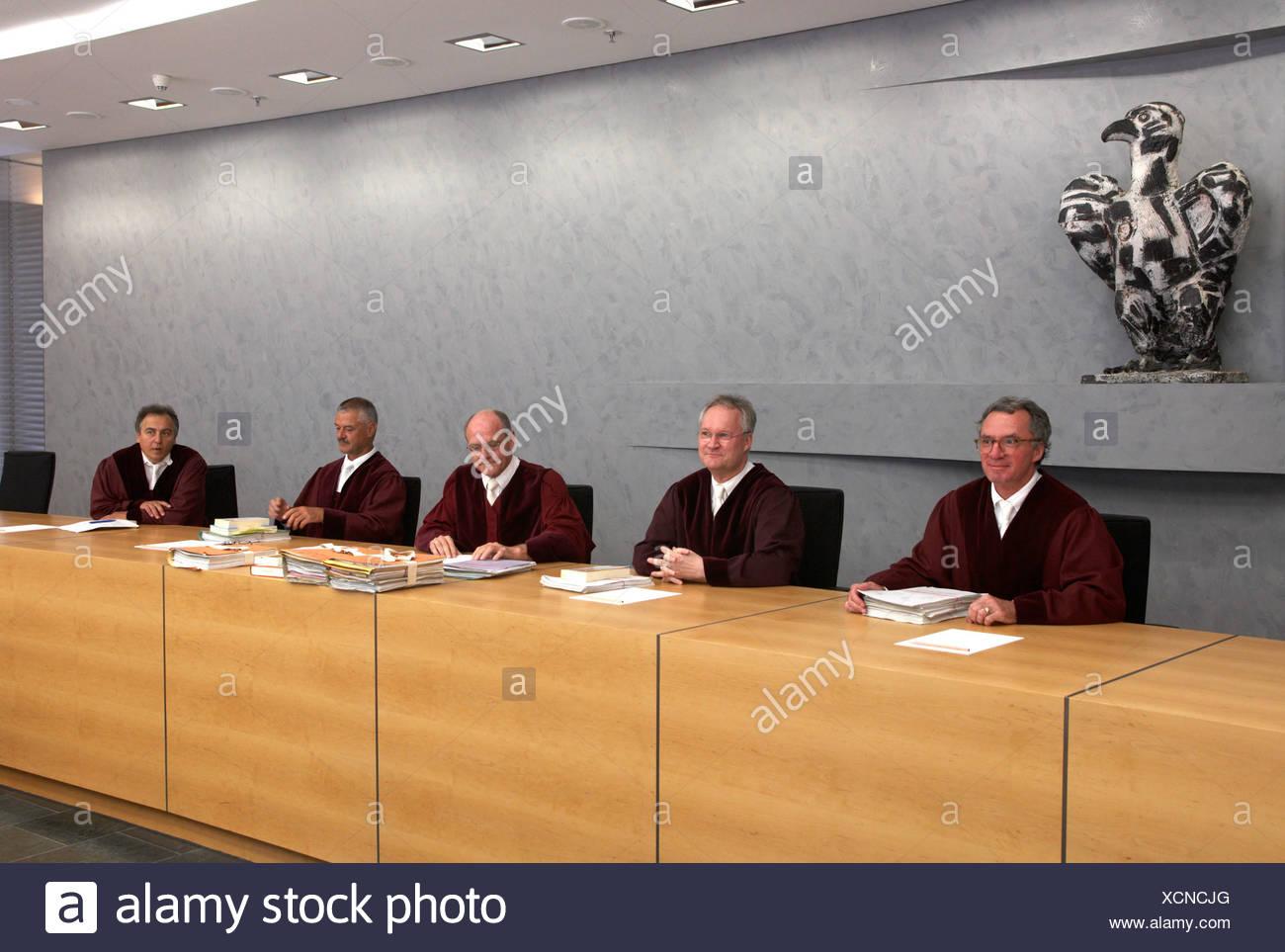Karlsruhe - Giudici del cartello al Senato Federale Immagini Stock