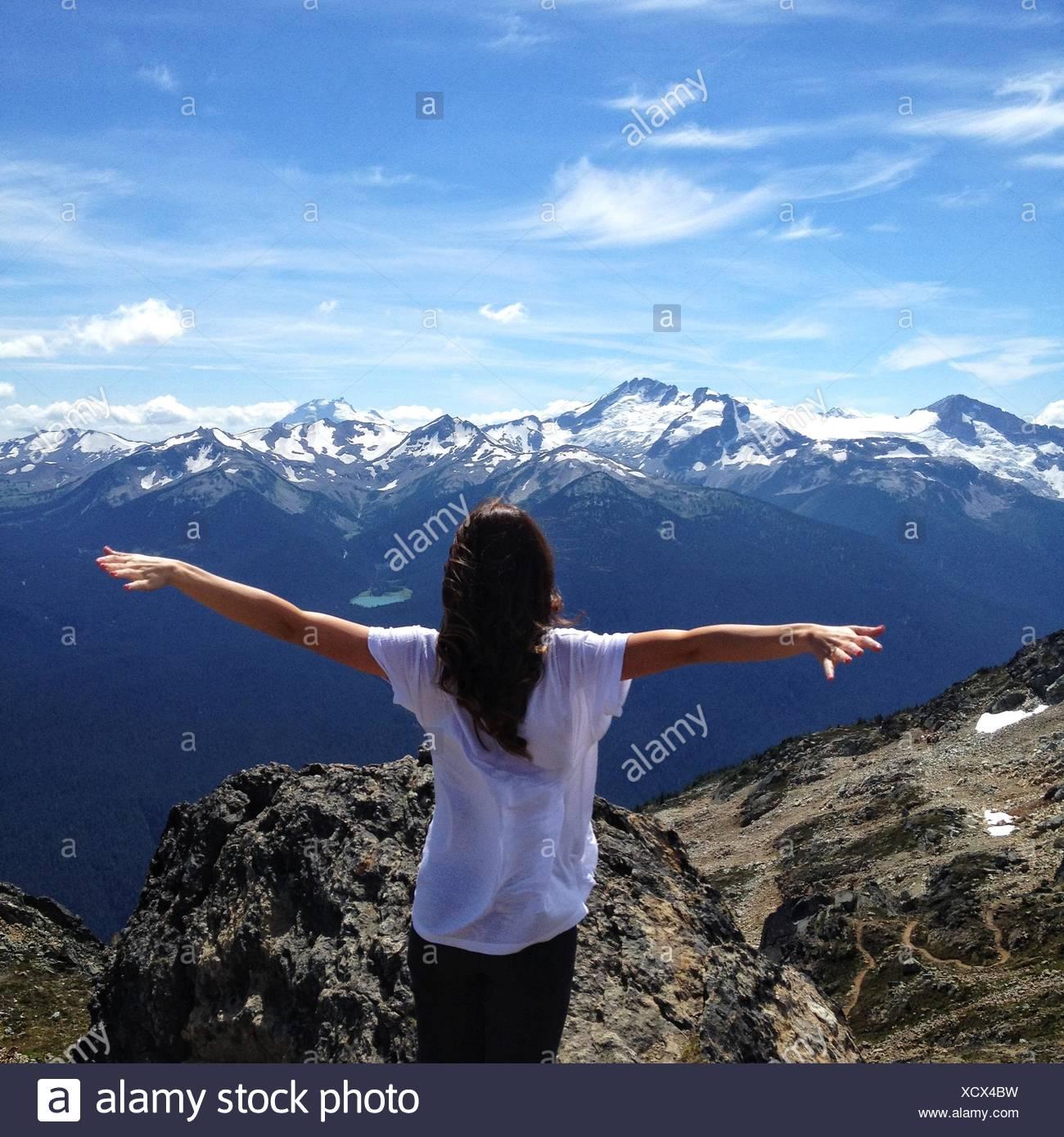Canada, British Columbia, Whistler, viaggiano gratuitamente Immagini Stock