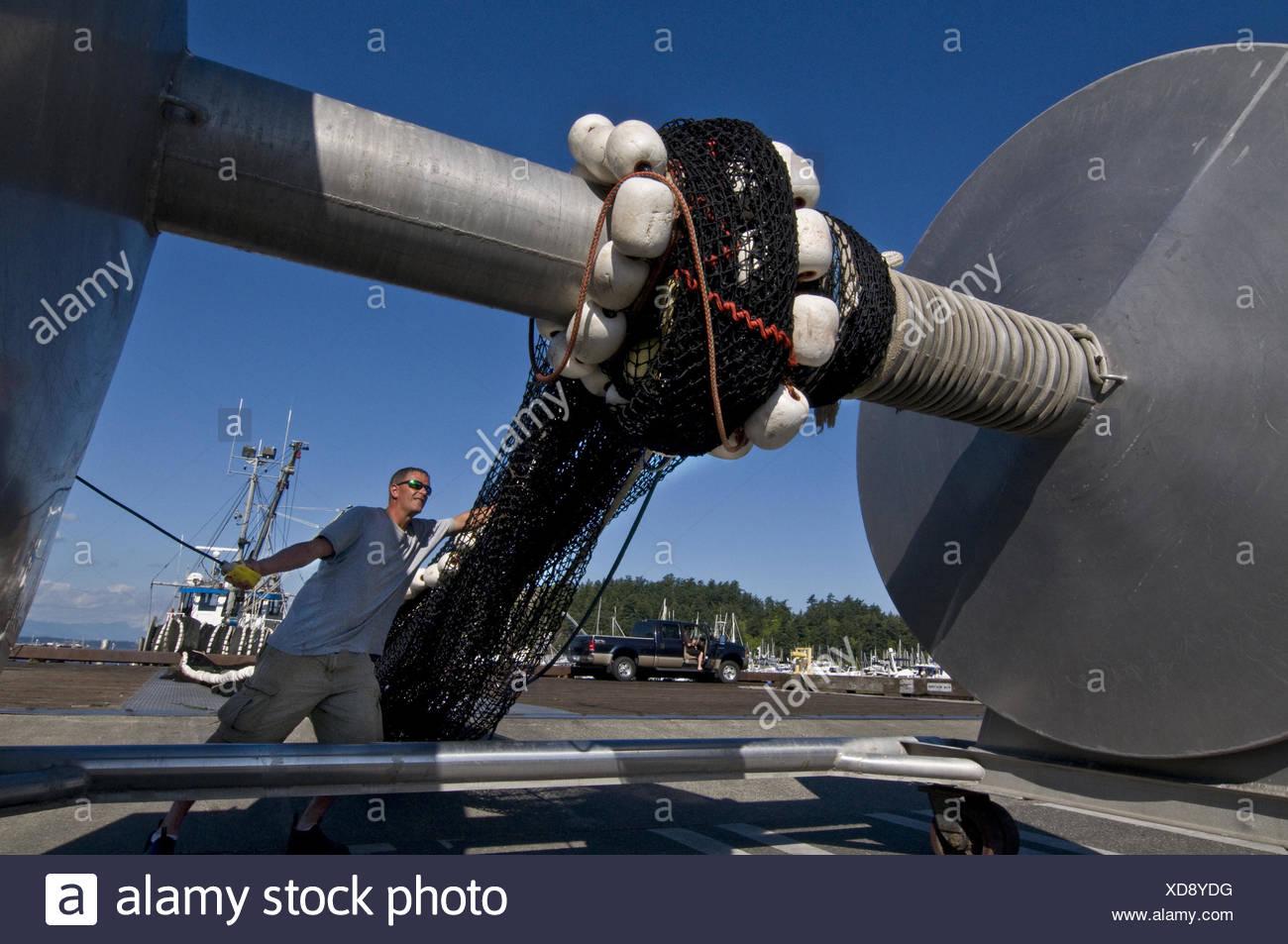 Dopo America American Anacortes colletto blu barca business costa di cattura costiere immagine a colori variopinti commerce ponte commerciale Immagini Stock