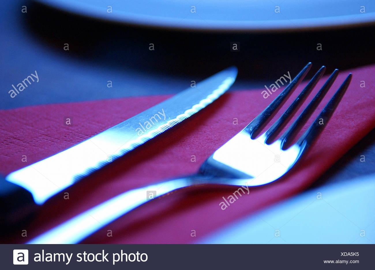 Argenti in un ristorante Immagini Stock