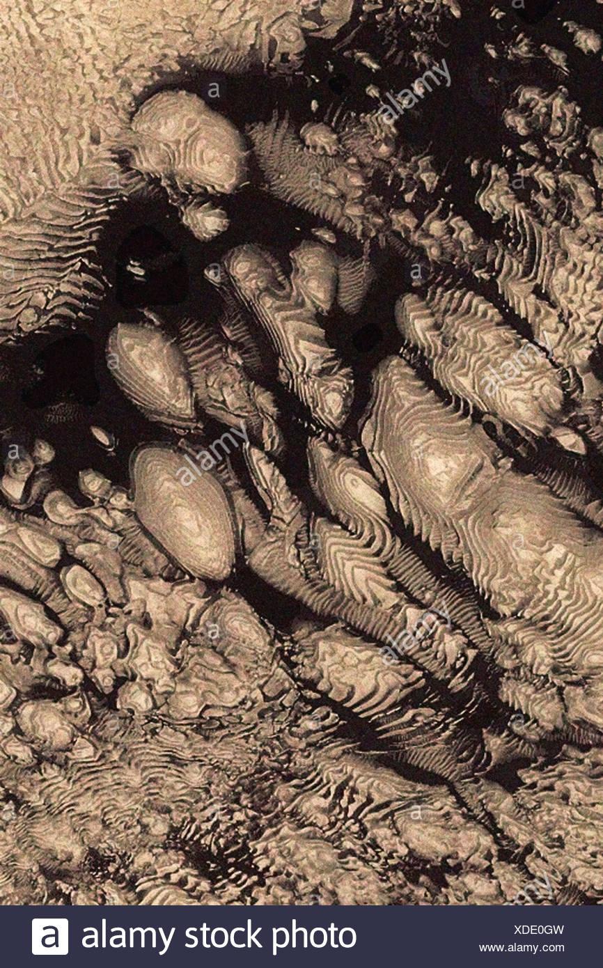 Xilografia II visto da Mars Global Surveyor Immagini Stock